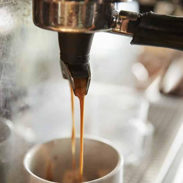 Close up of Coffee Machine