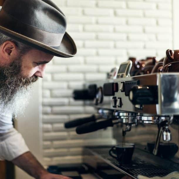 coffee cafe barista apron uniform brew concept PUPM2KN