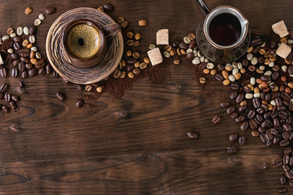 assortment of coffee as background PAKBYLG