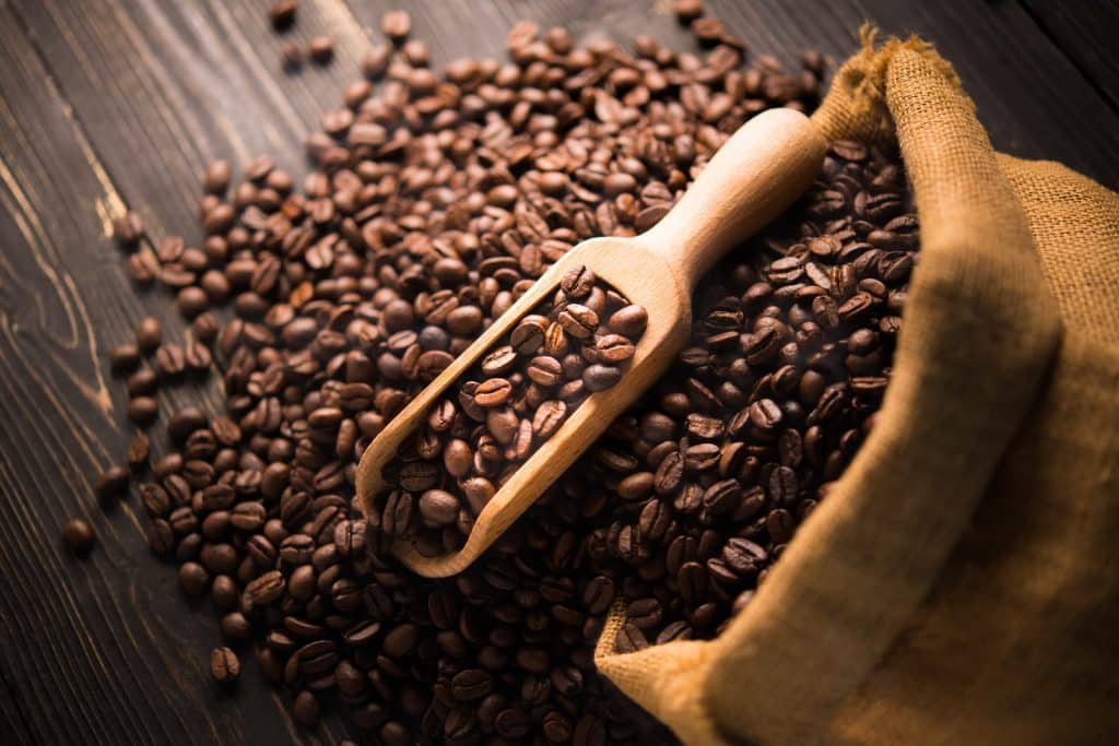 coffee cup coffee beans FE6PEAH