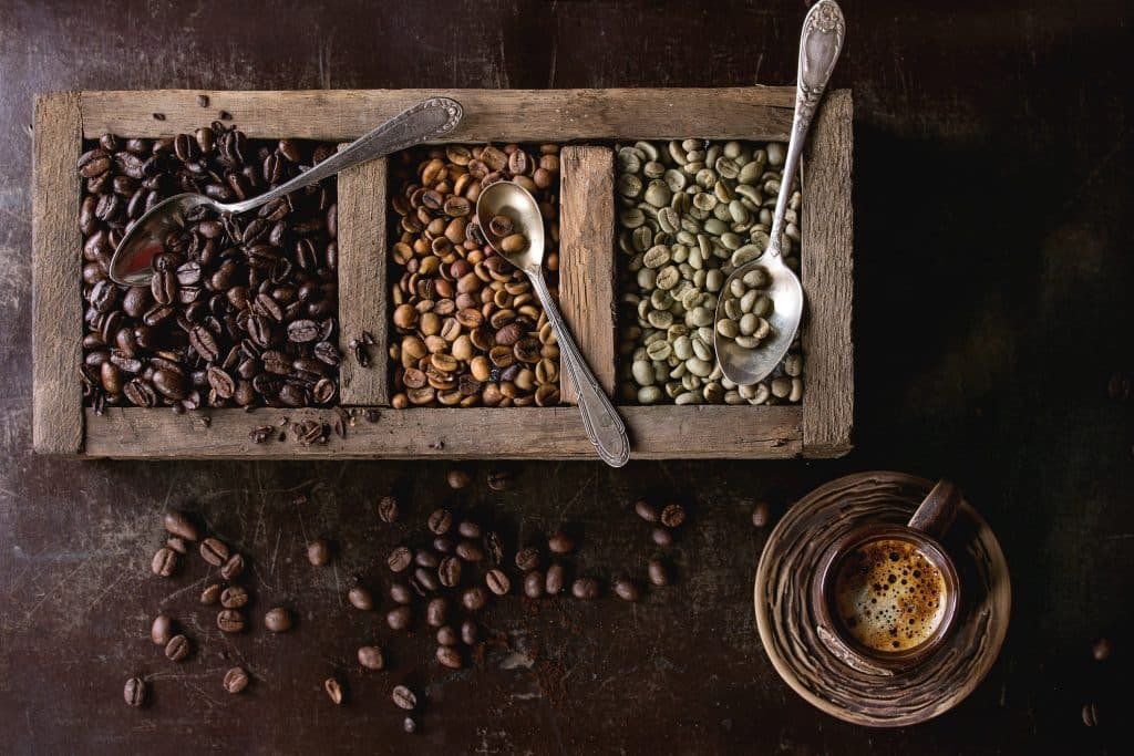 variation of coffee beans PQ5J234