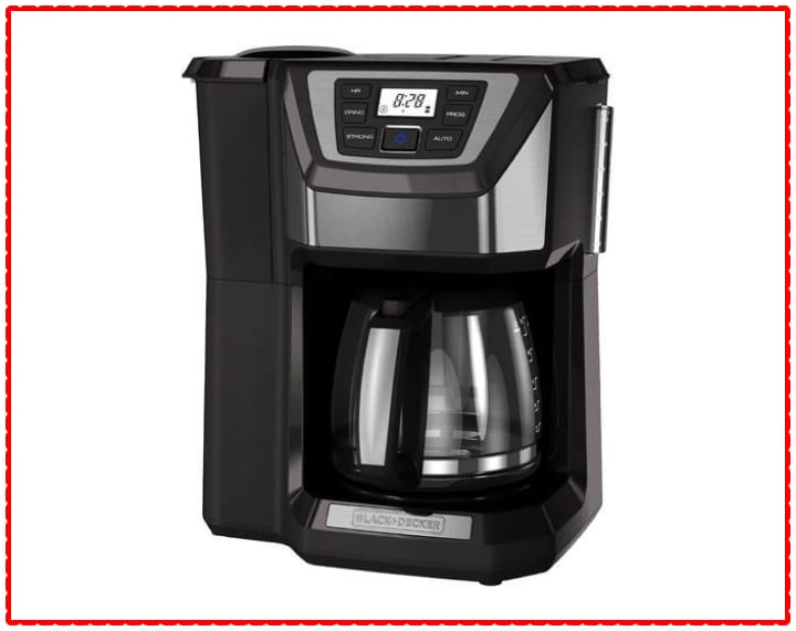 BLACK + DECKER 12-Cup Mill and Brew Coffeemaker