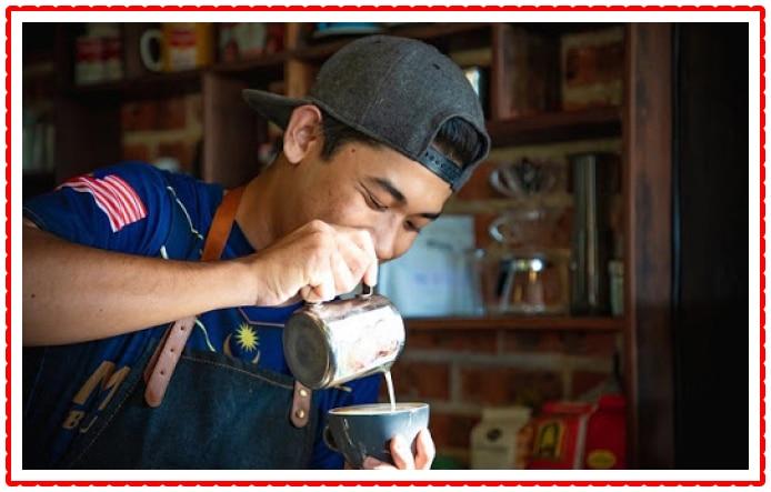 boy making coffee