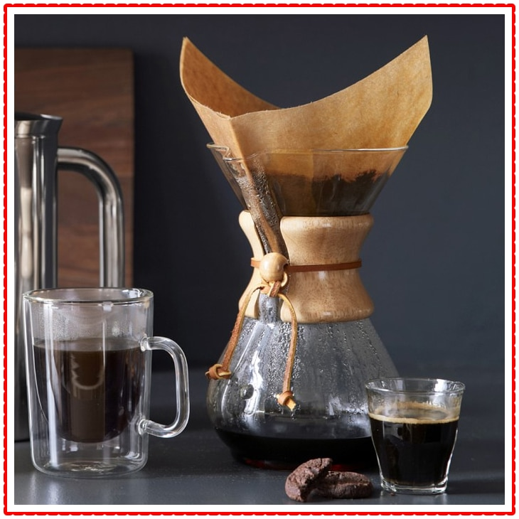 Chemex Glass Pour Over Coffee Maker