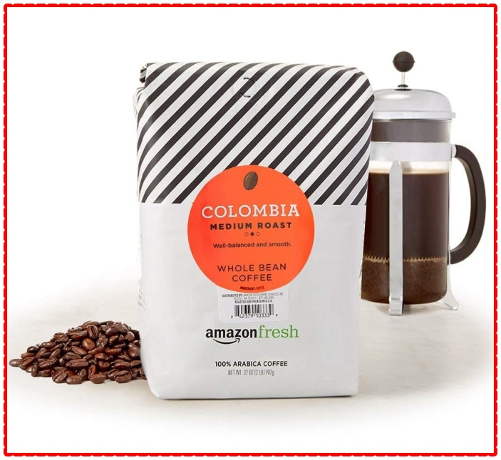 Amazon Fresh Colombia Whole Bean Coffee