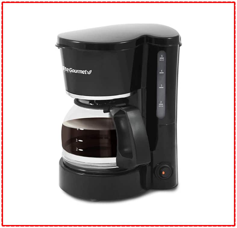 Elite Cuisine Brew and Drip 4 cup Coffee maker