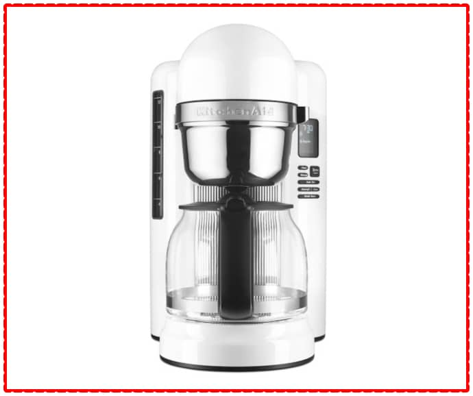 KitchenAid white coffee maker