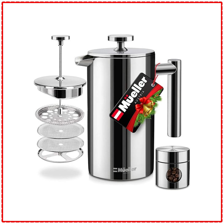 Mueller Austria Stainless Steel Double Insulated French Press