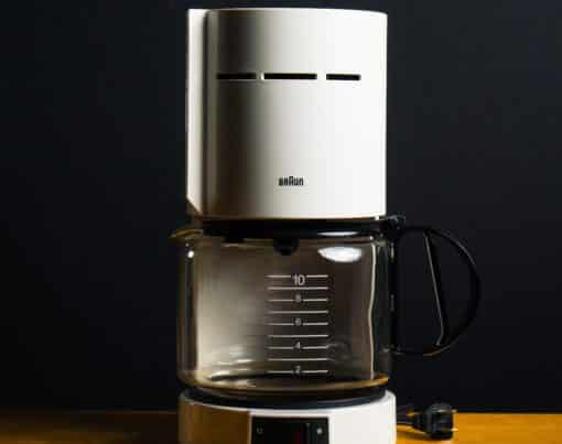 white coffee maker