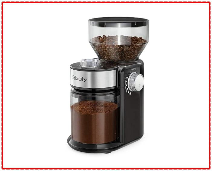 Sboly Electric Burr Coffee Grinder