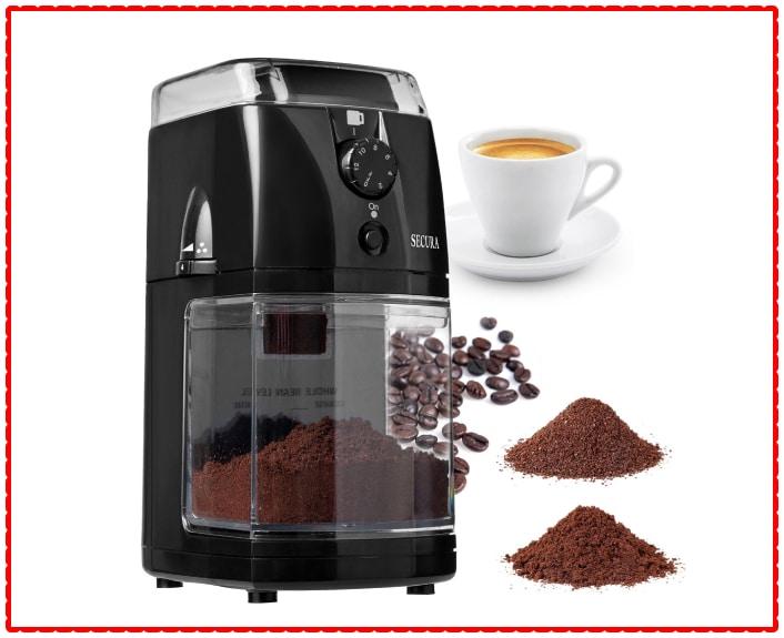 Secura Electric Burr Coffee Grinder