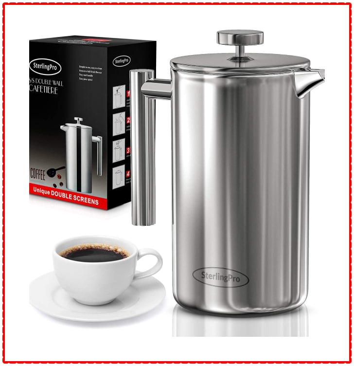 sterling Pro Double Wall French Press Coffee Maker